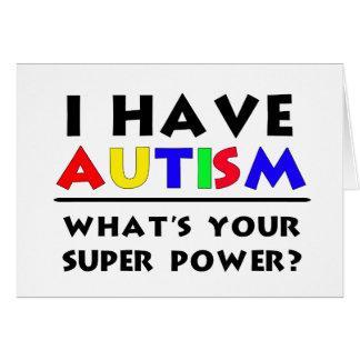 Tengo autismo. ¿Cuál es su superpoder? Tarjeta De Felicitación