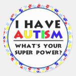Tengo autismo etiquetas redondas