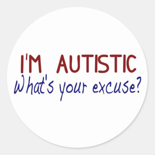 Tengo autismo pegatina redonda