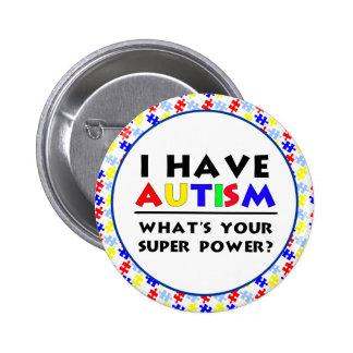 Tengo autismo pins