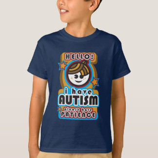 Tengo autismo, tengo por favor paciencia (boy2) playera