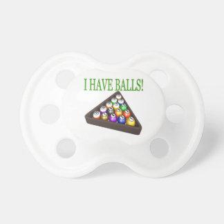 Tengo bolas chupetes de bebe