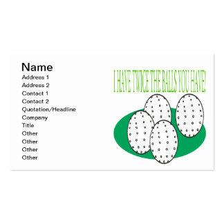 Tengo bolas tarjetas de visita