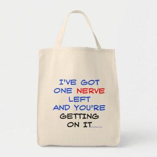 Tengo bolsos dejados un nervio bolsa tela para la compra