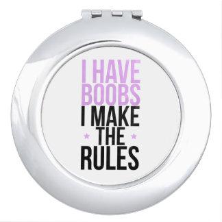 Tengo boobs que hago las reglas espejos compactos