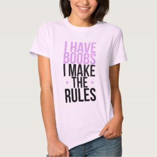 Tengo boobs que hago las reglas polera