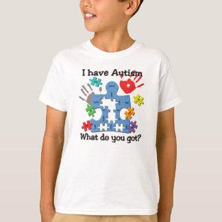 Tengo camiseta única divertida del autismo playeras