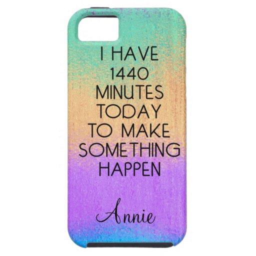 Tengo caso de motivación de 1440 minutos hoy iPhone 5 Case-Mate carcasas