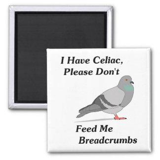 Tengo celiaco, por favor no me alimento migajas de imán cuadrado