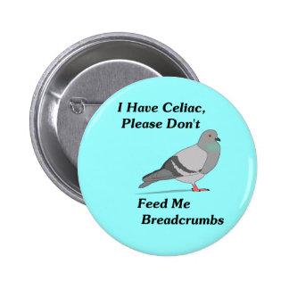 Tengo celiaco, por favor no me alimento migajas de pin redondo de 2 pulgadas