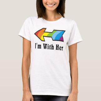 Tengo con ella - razón de la flecha del arco iris playera