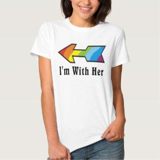 Tengo con ella - razón de la flecha del arco iris polera