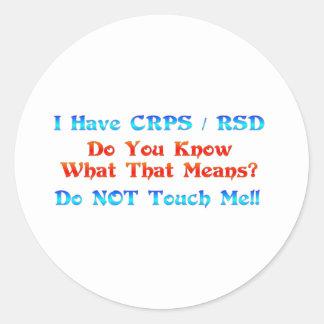 Tengo CRPS RSD usted sé lo que ese significa Pegatina Redonda