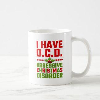 Tengo desorden obsesivo del navidad de OCD Taza Clásica