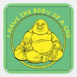 Tengo el cuerpo de dios pegatinas cuadradases personalizadas