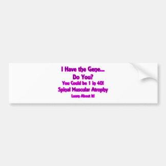¿Tengo el gen - hace usted? Rosa Etiqueta De Parachoque