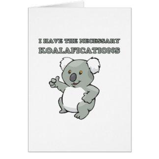 Tengo el Koalafications necesario Felicitación