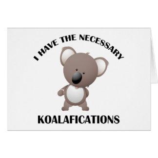 Tengo el Koalafications necesario Tarjetas