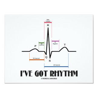 """Tengo el ritmo (ECG/EKG - el esquema del carril de Invitación 4.25"""" X 5.5"""""""