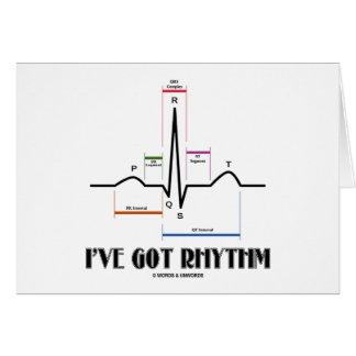 Tengo el ritmo (ECG/EKG - el esquema del carril de Tarjeta De Felicitación