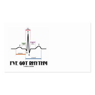 Tengo el ritmo (ECG/EKG - el esquema del carril de Plantillas De Tarjetas De Visita