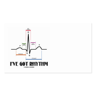 Tengo el ritmo (ECG/EKG - el esquema del carril de Tarjetas De Visita