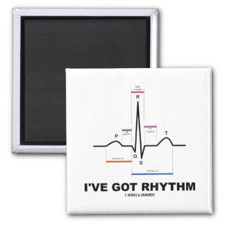 Tengo el ritmo (ECG - el golpe de corazón de EKG) Imán Cuadrado
