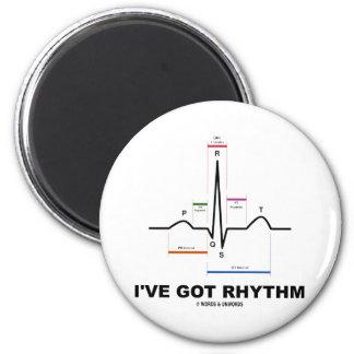 Tengo el ritmo (ECG - el golpe de corazón de EKG) Imán Redondo 5 Cm