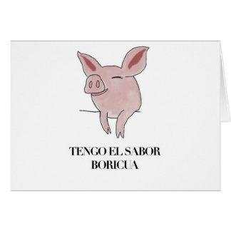 Tengo el Sabor Boricua. Card