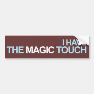 Tengo el tacto mágico pegatina de parachoque