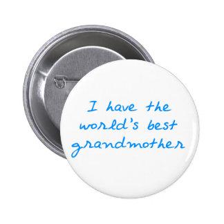 Tengo el World' la mejor abuela de s (azul) Pin Redondo 5 Cm