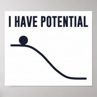 Tengo energía potencial póster