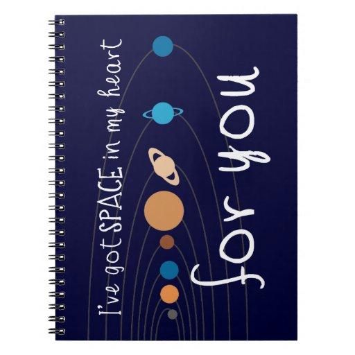 Tengo espacio en mi corazón para usted libros de apuntes con espiral