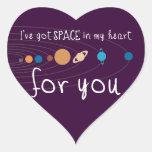 Tengo espacio en mi corazón para usted calcomanía de corazón