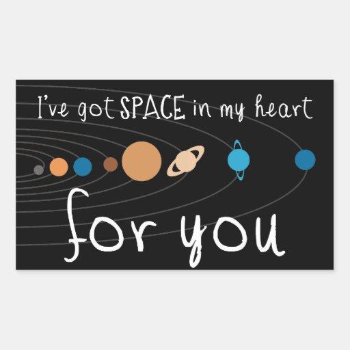 Tengo espacio en mi corazón para usted pegatina rectangular