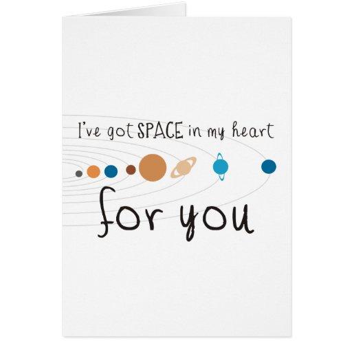 Tengo espacio en mi corazón para usted tarjeta de felicitación