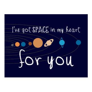 Tengo espacio en mi corazón para usted postal