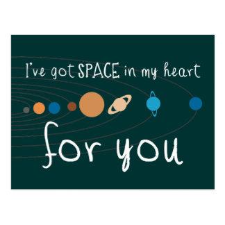 Tengo espacio en mi corazón para usted tarjetas postales