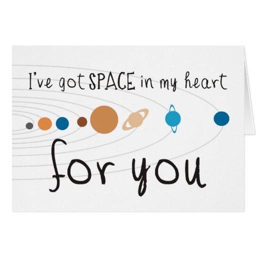 Tengo espacio en mi corazón para usted tarjetón