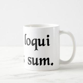 Tengo esta obligación para hablar el latín taza