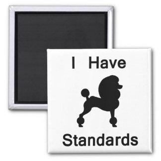 Tengo estándares (el caniche) imanes para frigoríficos