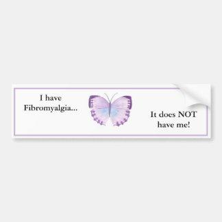 ¡Tengo Fibromyalgia… que no me tiene! Pegatina Para Auto