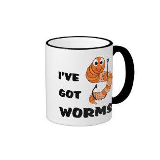 Tengo gusanos taza de café