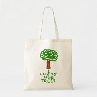 Tengo gusto de abrazar árboles bolsa tela barata