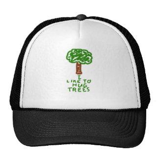 Tengo gusto de abrazar árboles gorro