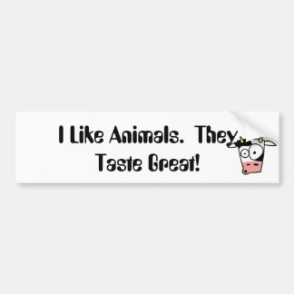 Tengo gusto de animales.  ¡Prueban grande! Pegatina Para Auto