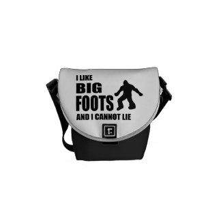 Tengo gusto de Bigfoots y no puedo mentir Bolsas De Mensajeria