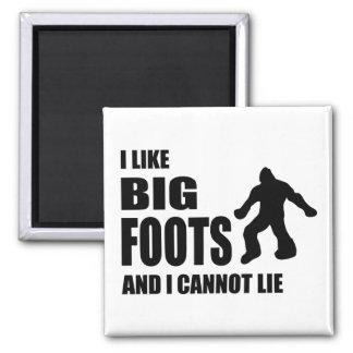 Tengo gusto de Bigfoots y no puedo mentir Imanes De Nevera