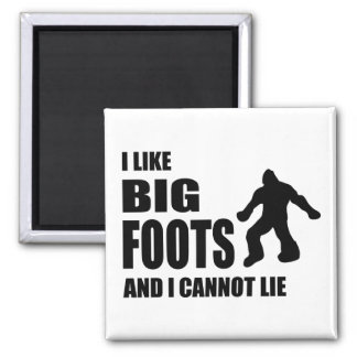 Tengo gusto de Bigfoots y no puedo mentir Imán Cuadrado