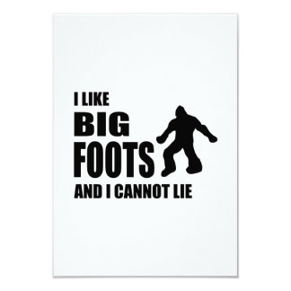 Tengo gusto de Bigfoots y no puedo mentir Invitación 8,9 X 12,7 Cm